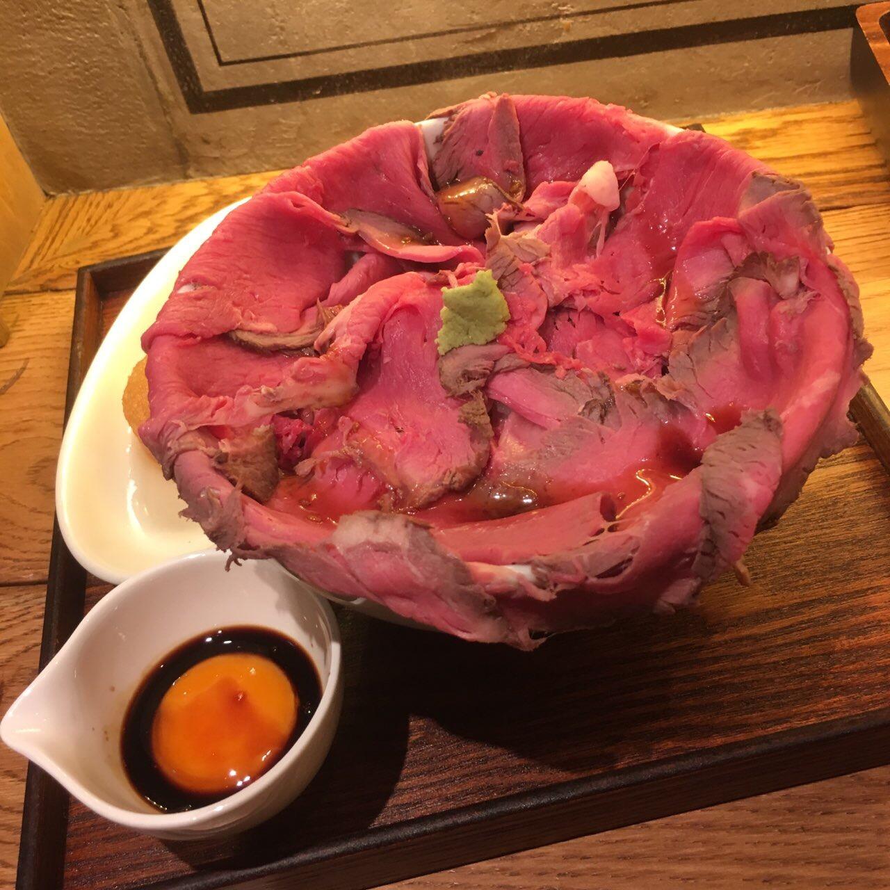 【新大阪駅】エキナカランチ!エキマルシェ内「VIA BEER OSAKA」のローストビーフ丼