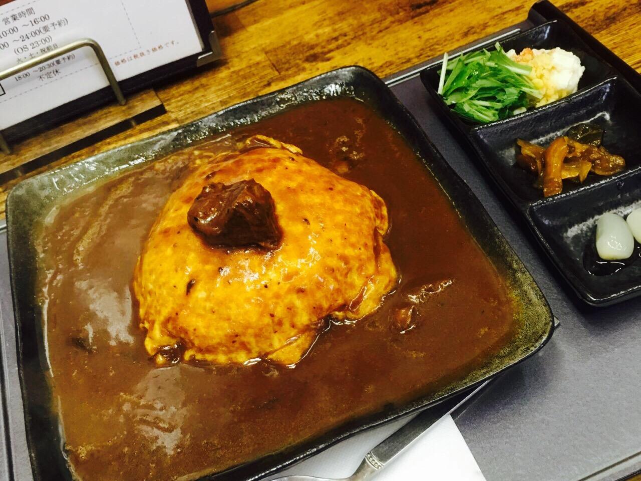 【ふくふく通り】岡山中央卸売市場「うどん虎」の千屋牛肉オムカレーが美味しすぎる!