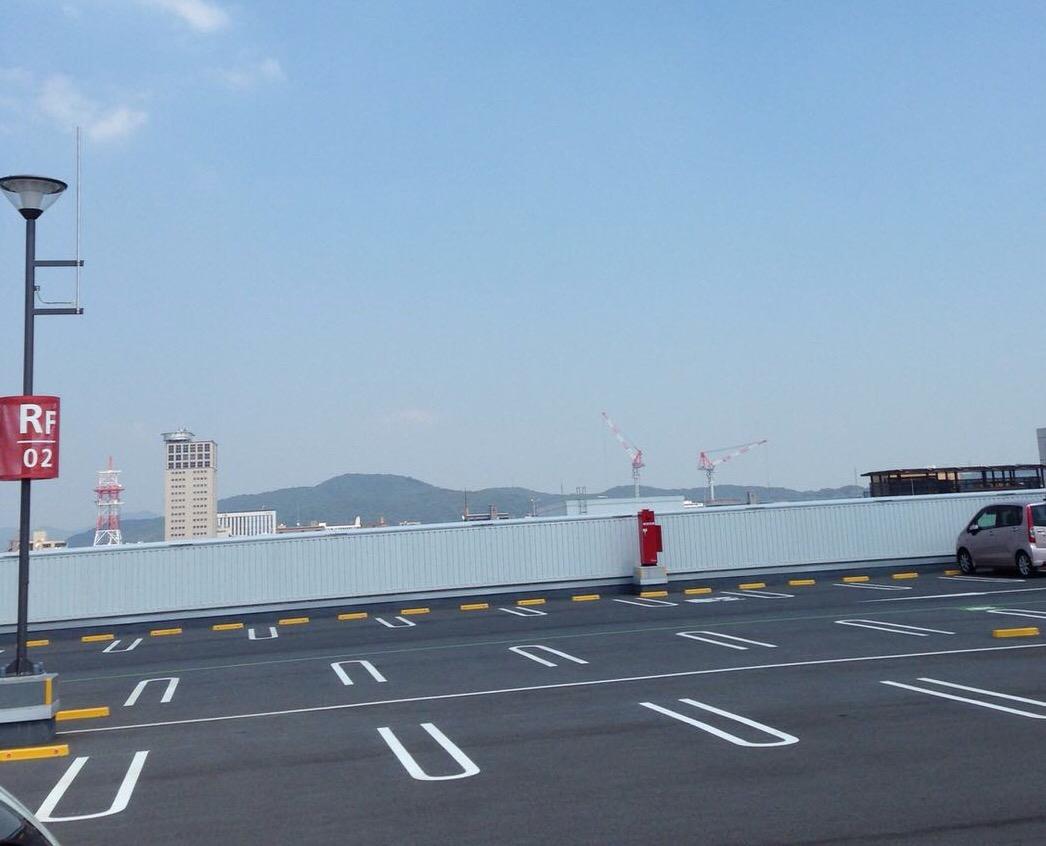 【桃太郎花火】イオンモール岡山の屋上駐車場から見物。新しい穴場発見!