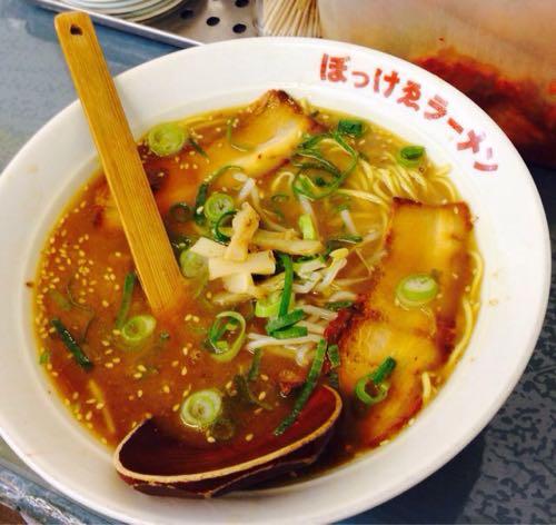 「ぼっけゑラーメン」岡山の濃厚麺といえばぼっけえラーメン。キムチ食べ放題でいろんな楽しみ方が!